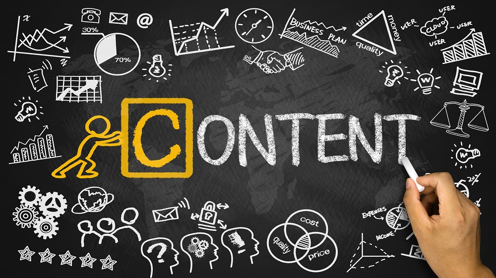 PROSAR content marketing graphic on blackboard
