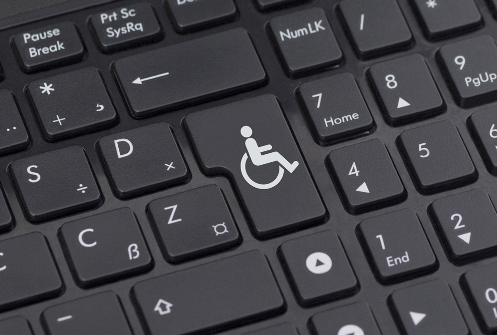 accessible button on the keyboard