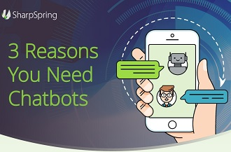 3 Reasons you need chatbots infographic.